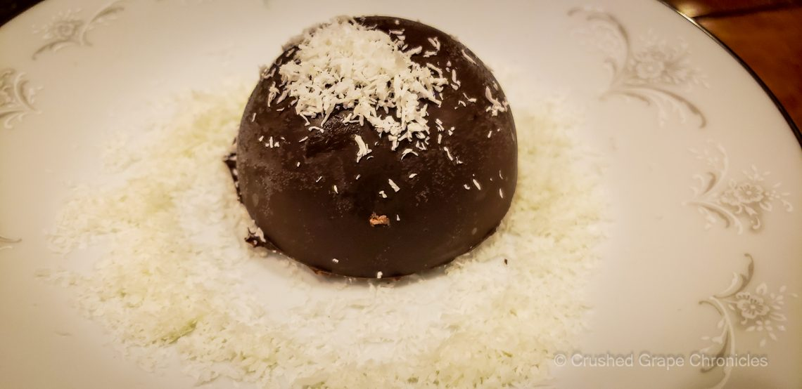 Blackberry Goat Cheese Chocolate Bombs