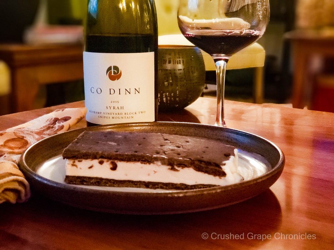 Co Dinn 2015 Roskamp Block 2 Syrah with a Black Cherry Ice Cream Sandwich
