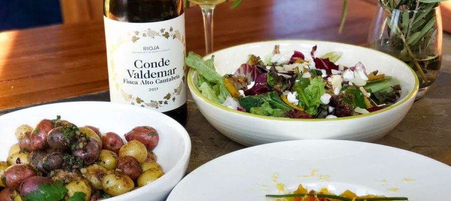 Finca Alto Cantabria Viura from Conde Valdemar with pairings
