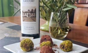 L'Ecole No. 41 2017 Walla Walla Cabernet Sauvignon with chocolate truffles