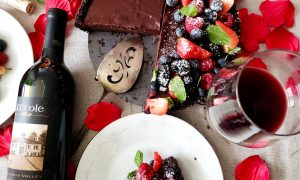 LEcole No. 41 for Valentines Day with a chocolate berry tart 8