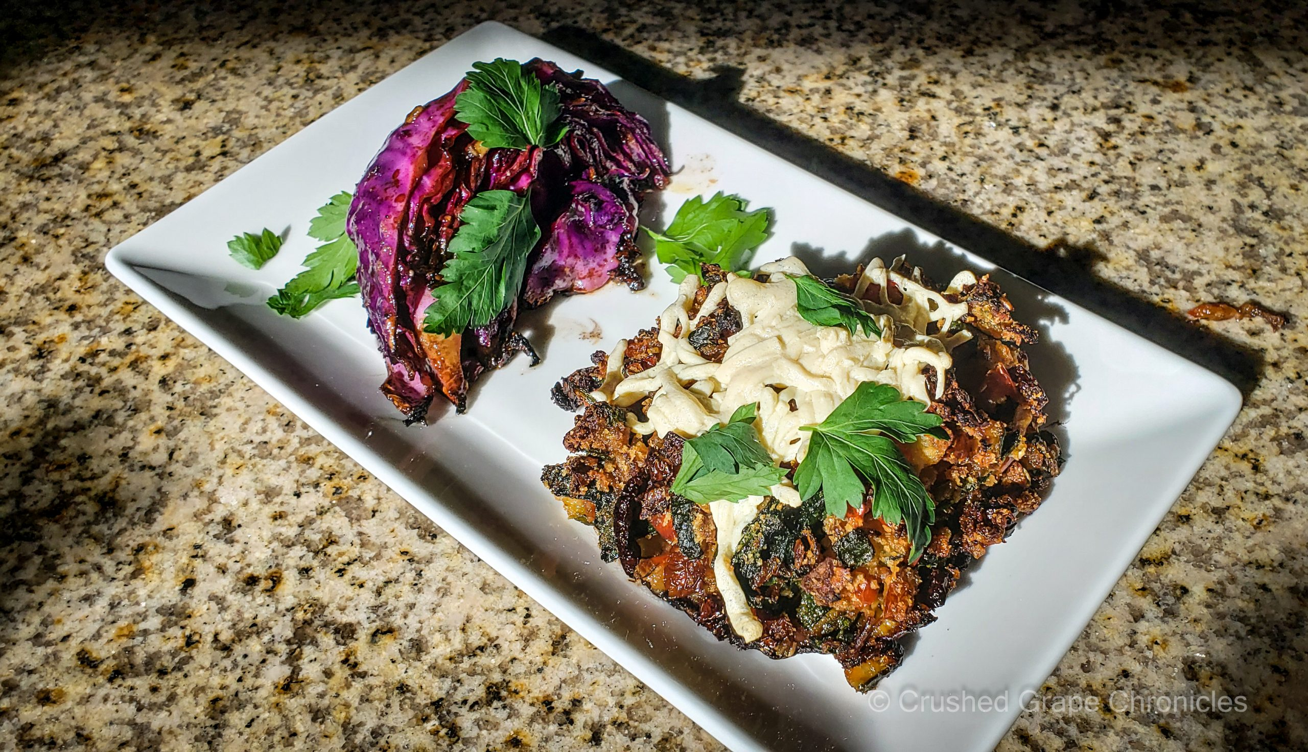 Stuffed Vegan Portabello Mushrooms and L'Ecole Cabernet