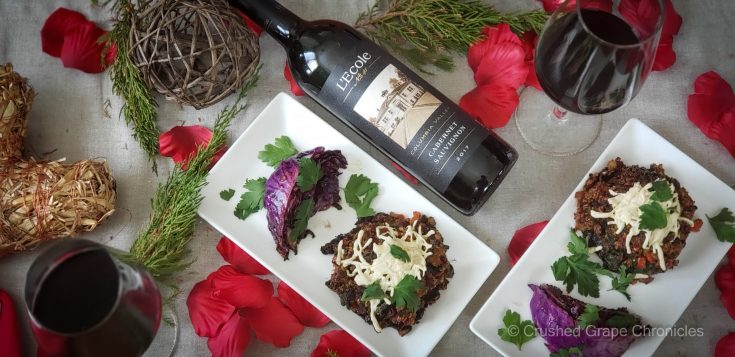 Stuffed Vegan Porabello Mushrooms and Lecole Cabernet 133534 2 scaled