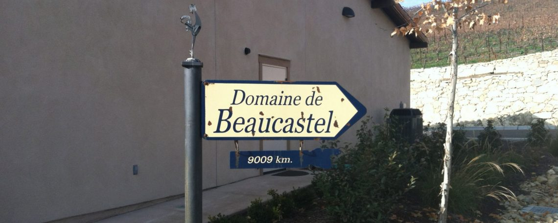 Domaine de Beaucastel Sign at Tablas Creek Vineyard in Paso Robles