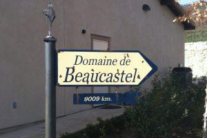 Domaine de Beaucastel Sign at Tablas Creek Vineyard in Paso Robles
