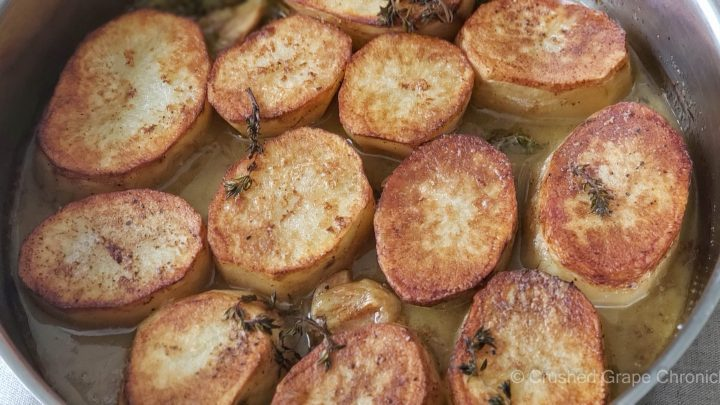 Melting potatoes with thyme
