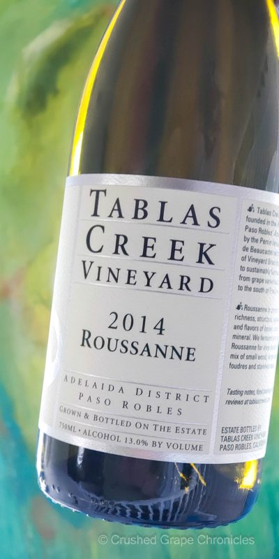 Roussanne from Tablas Creek Vineyard 2014
