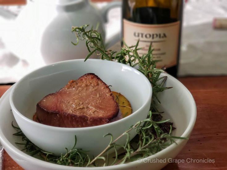 Utopia Pinot Noir with tea smoked tuna and roasted beets 3 scaled