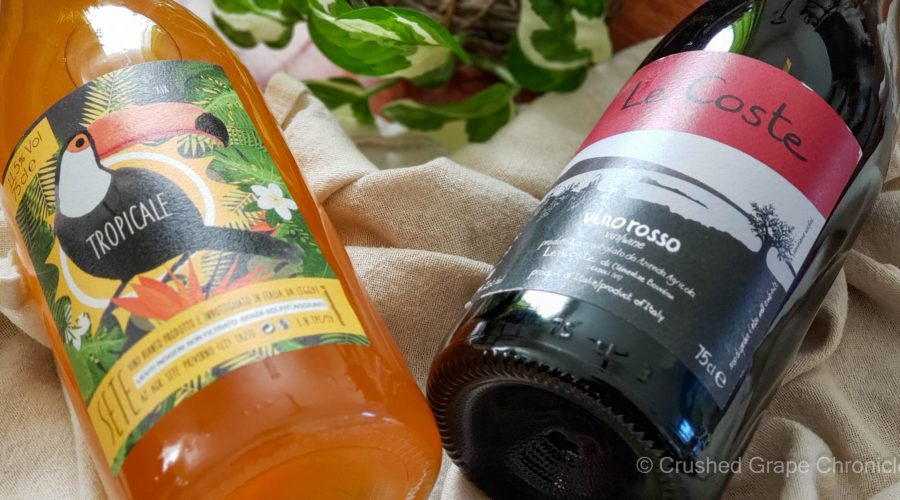 Low intervention wines from Lazio - Sete 2019 Tropicale and Le Coste 2019 Vino Rosso