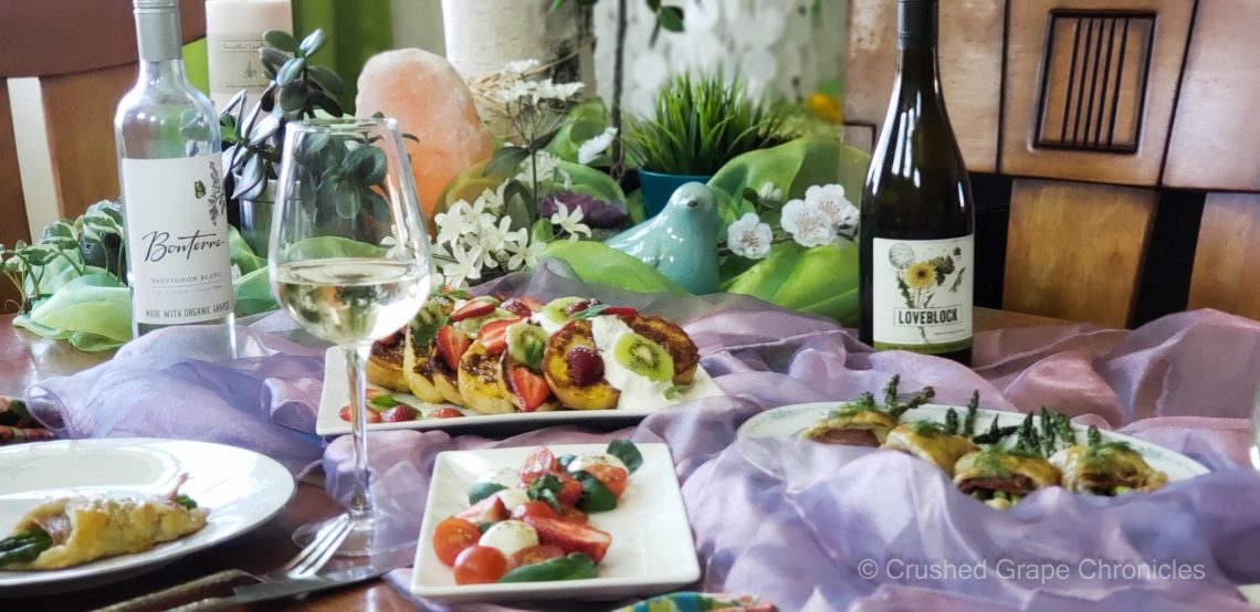 Easter Earth month spread with Organic Savignon Blancs