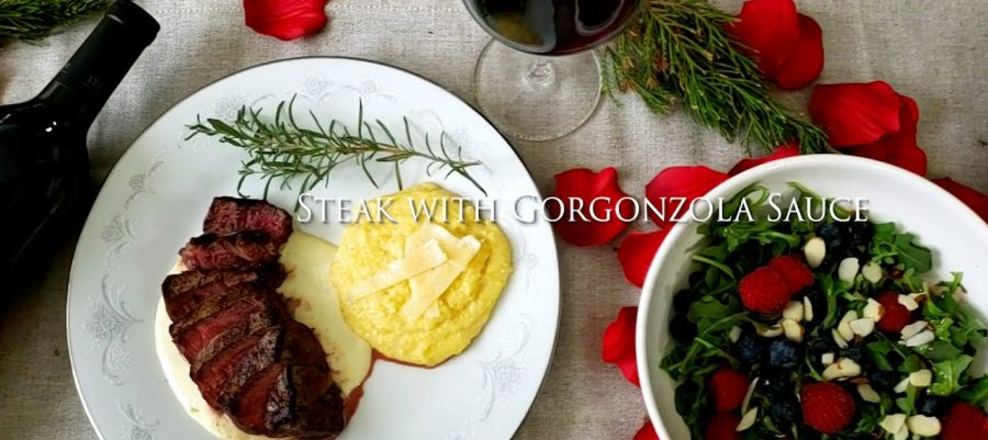 Steak with Gorgonzola sauce recipe, paired with Cabernet Sauvignon