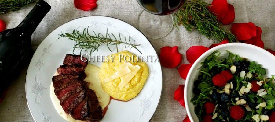 Cheesy Polenta recipe, paired with Cabernet Sauvignon