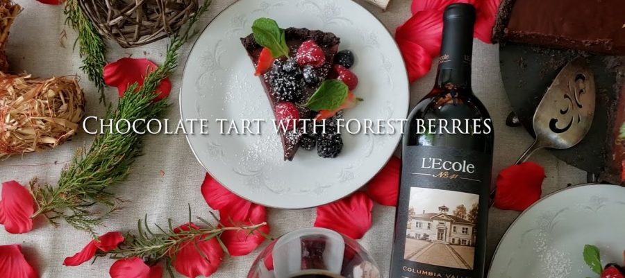 Chocolate Tart with Forest Berries recipe, paired with Cabernet Sauvignon