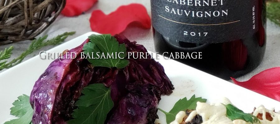 Grilled balsamic purple cabbage recipe, paired with Cabernet Sauvignon