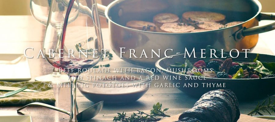 Recipe Beef Roulade with bacon, mushrooms and spinach and a red wine sauce with 2018 Spring Release