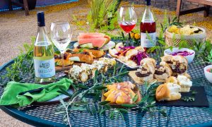 Bells Up 2020 Rhapsody Pinot Blanc and Prelude Rose of Pinot Noir with a Memorial Day Celebration