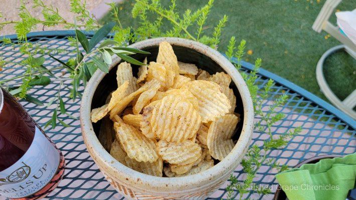 Salt & Pepper Potato Chips for our Memorial Day Feast