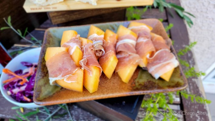 Proscuitto wrapped canteloupe