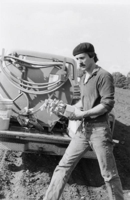 Bill Blosser in his beret (photo courtesy Sokol-Blosser)