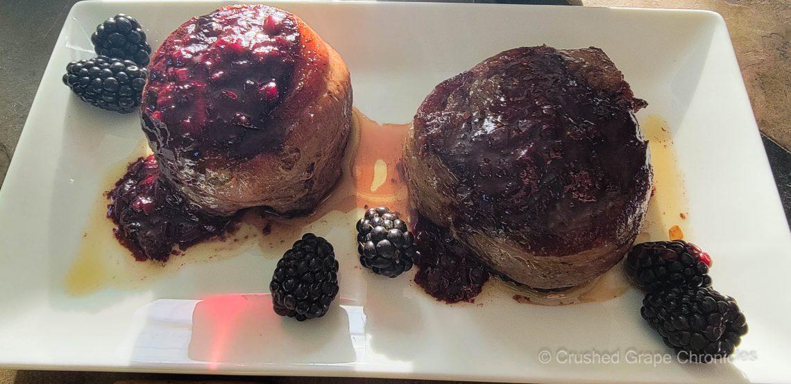 Filet Mignon with a Pinot Noir Berry pan sauce