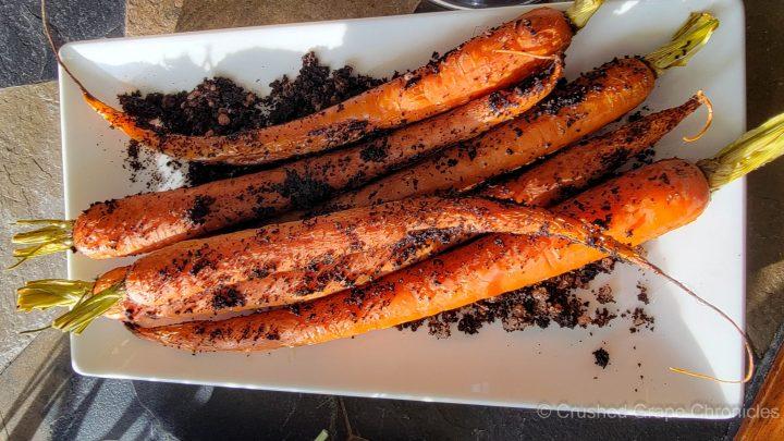 Salt and coffee roasted carrots