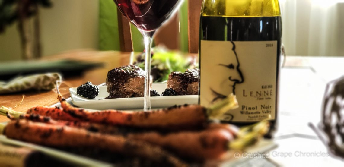 Lenne Estate 2018 Kill Hill Pinot Noir with pairings