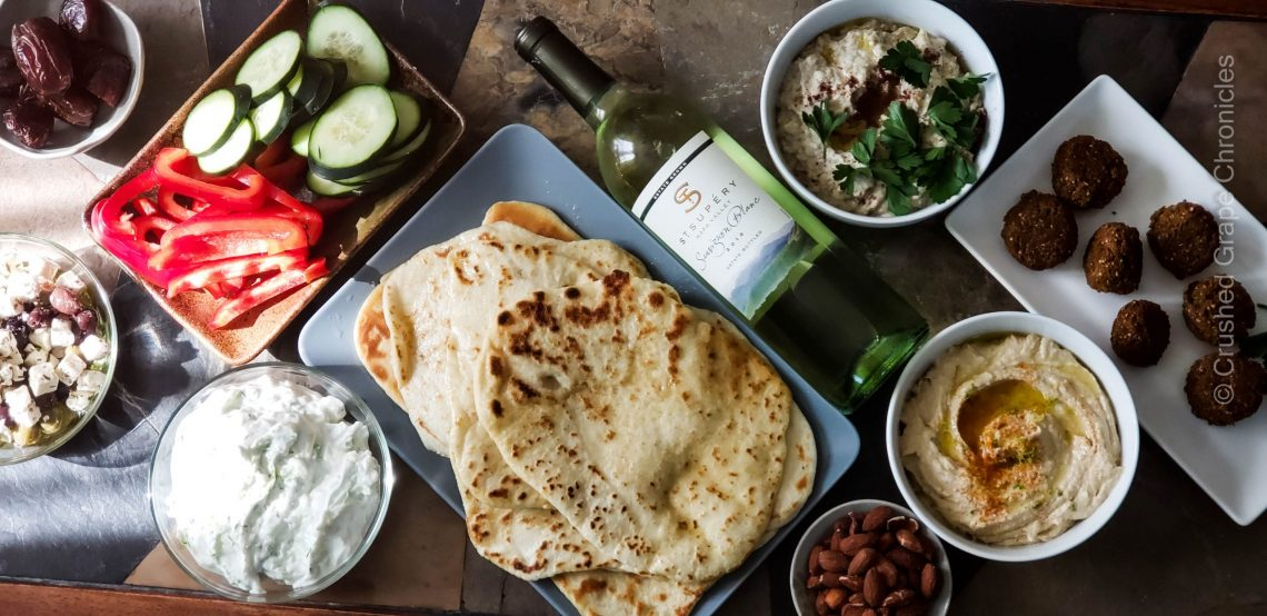 St. Supery 2019Sauvignon Blanc and Middle Eastern Meze
