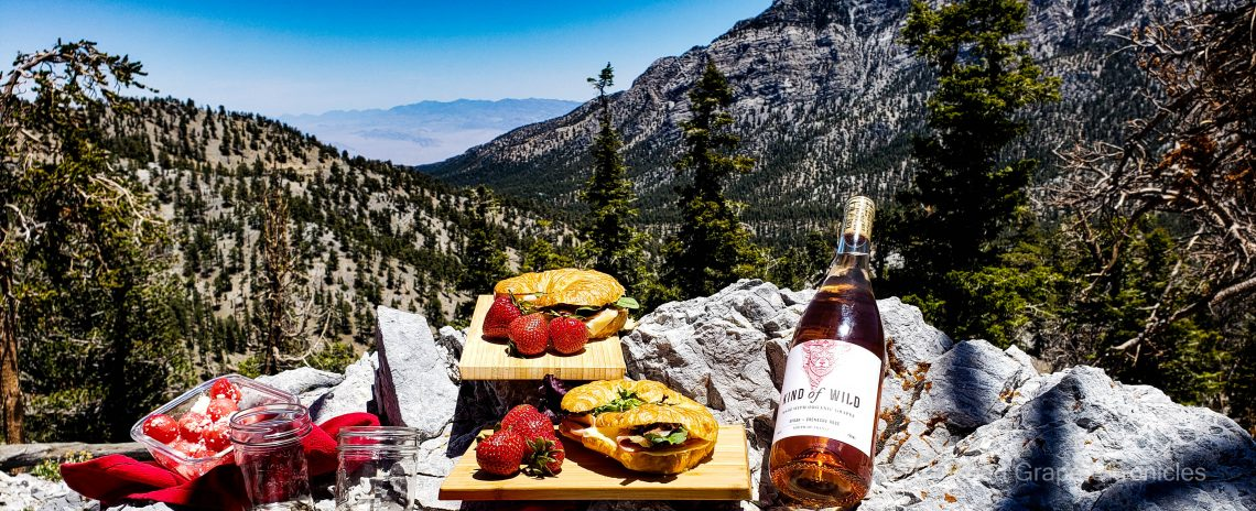 Kind of Wild Syrah Grenache Rose and a picnic with a view at Mt. Charleston