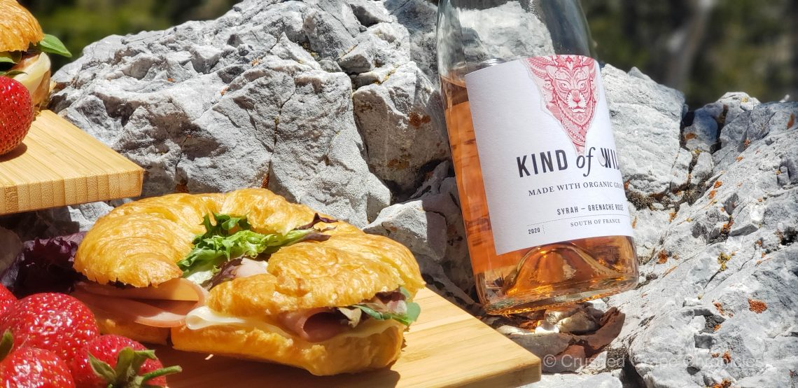Kind of Wild Syrah Grenache Rose on Mt. Charleston with a picnic