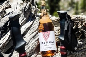Kind of Wild Syrah Grenache Rose on a mountain hike