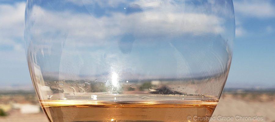 A look at Las Vegas through a Rosé colored glass of L'Ecole No. 41 Grenache Rosé from Alder Ridge Vineyard