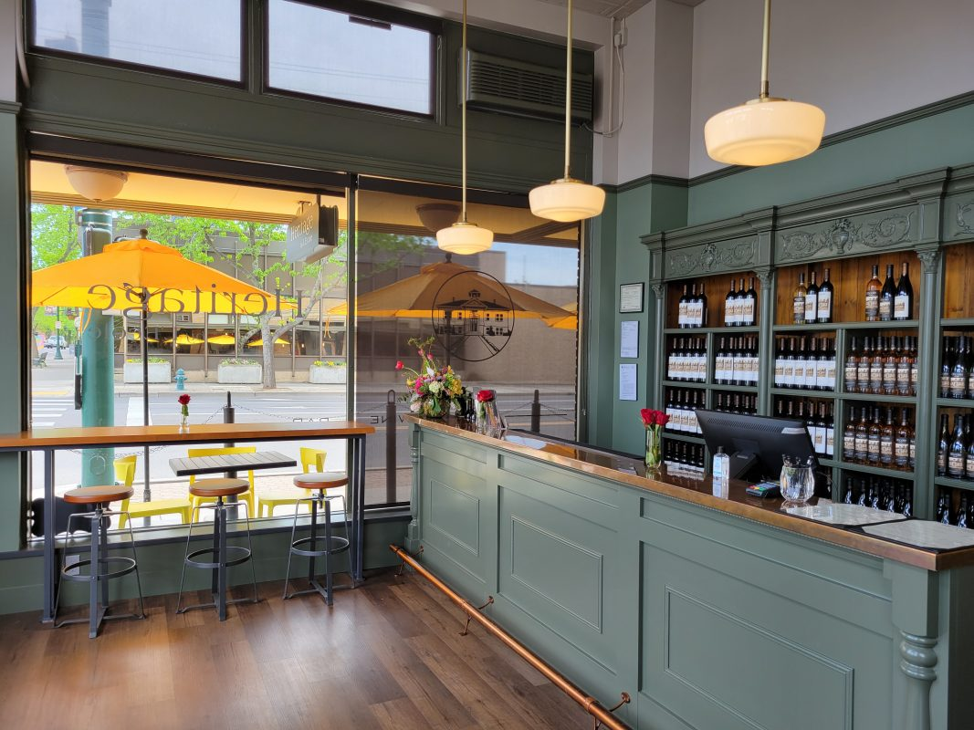 Heritage by L'Ecole, the new wine bar at the Marcus Whitman in downtown Walla Walla (photo courtesy L'Ecole No. 41)