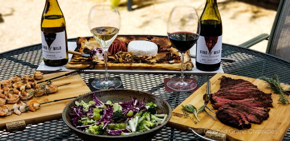 Kind of Wild wines and pairings on the grill