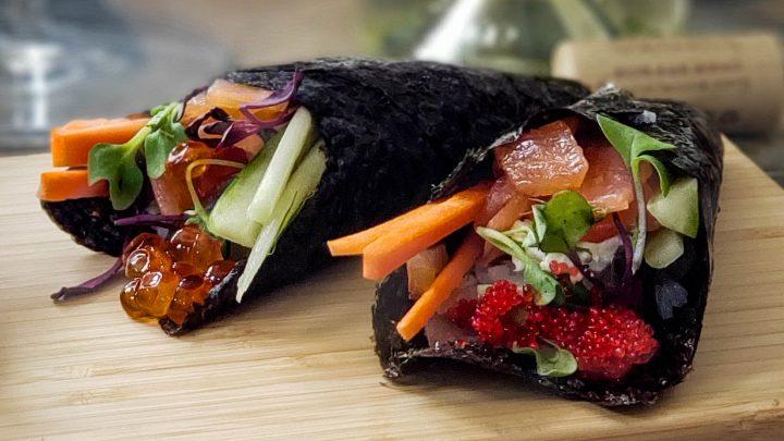 Temaki (sushi hand roll) Luminesce style