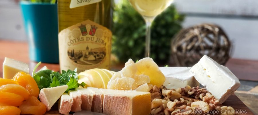 Cotes du Jura Domaine Jean Bourdy (a baby Vin Jaune) and a cheese plate