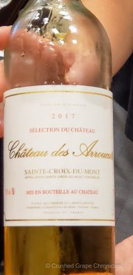 Chateau des Arroucats Saint Croix du Mont Sweet Bordeaux