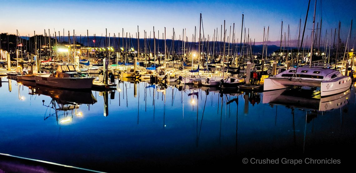 Sunset over Old Fisherman's Wharf in Monterey on The Scenic Route 2021