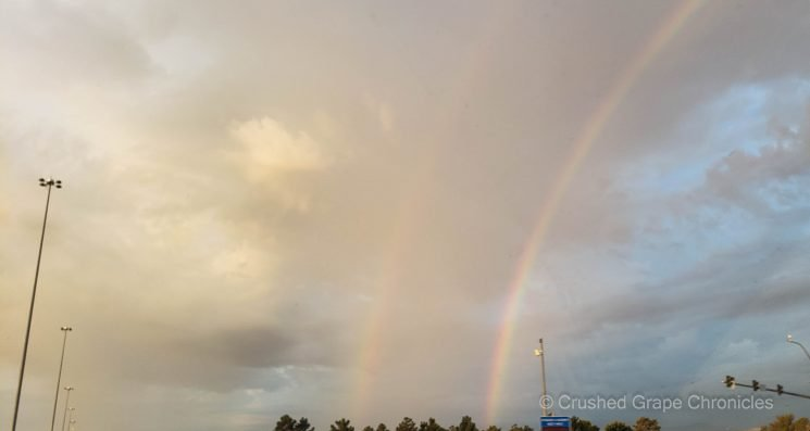 Vegas wished us a good trip with double rainbows