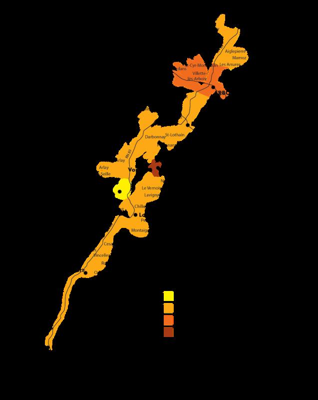VDJ-Carte-aoc Jura (Map courtesy Vin du Jura
