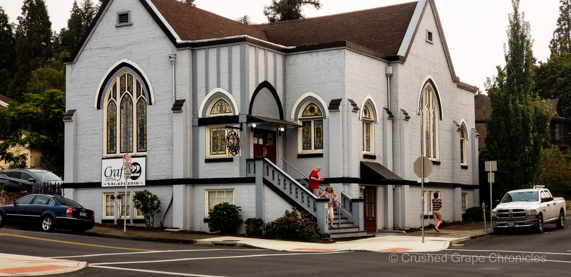 Catch 22 Fish and Chips in a renovated church in Roseburg Oregon