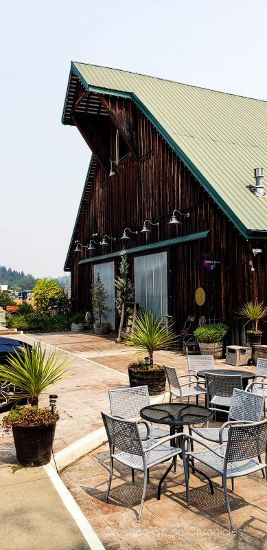 100 year old barn renovated to be the tasting room atMelrose Vineyards in the Umpqua Valley