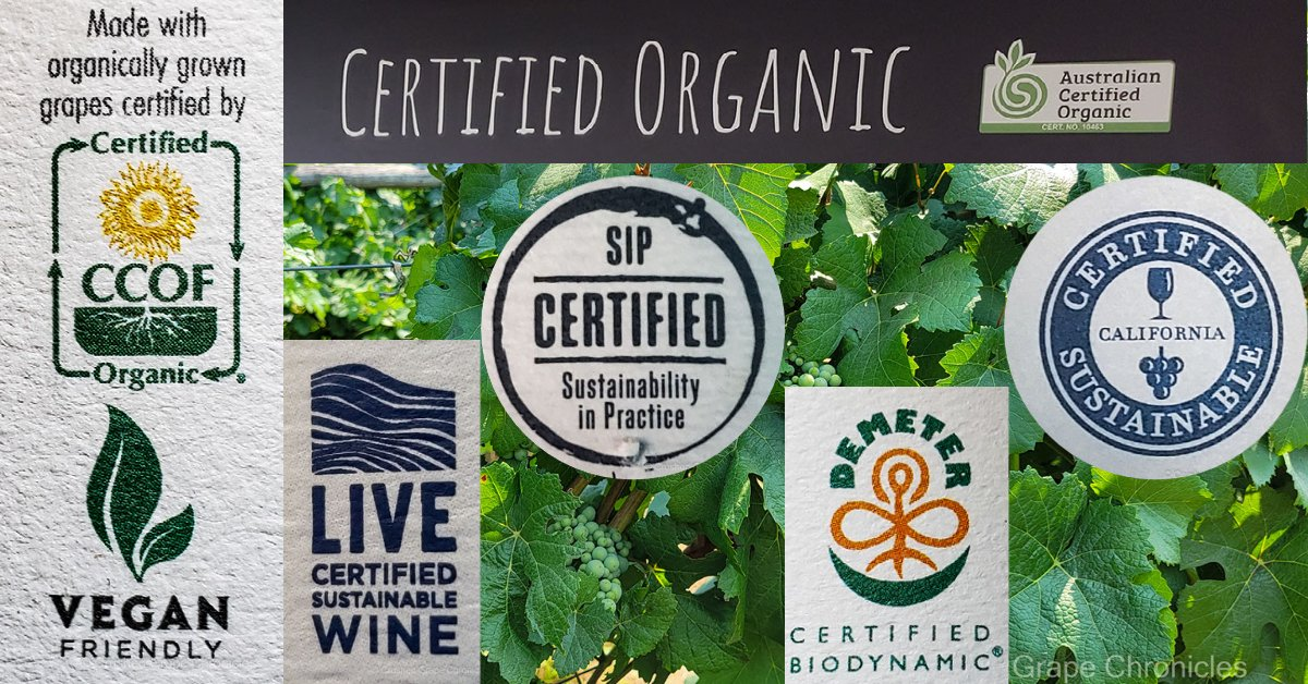 Sustainable, Organic and Biodynamic certifications