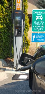 The Charging station for electric and hybrid cars at Troon Vineyard