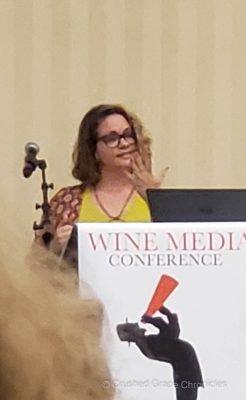 Brianne Cohen giving her lightning talk at WMC21