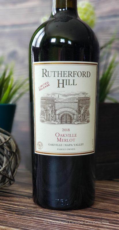 Rutherford Hill 2018 Oakville Merlot for #MerlotMe