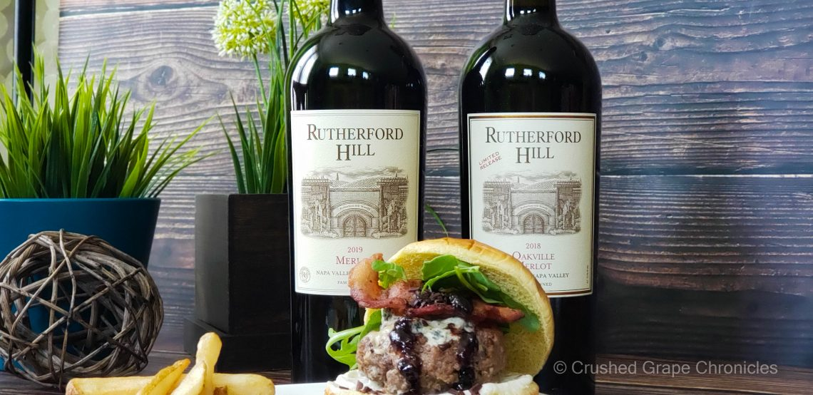 Rutherford Hill Merlots and a decadent burger for #MerlotMe